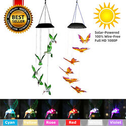 Color-Changing LED Solar Powered  Wind Chime Lights Yard Garden Decor $12.85