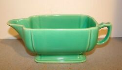Vintage Homer Laughlin Riviera Green Gravy Boat $20.00