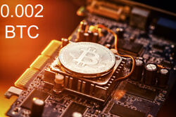 Bitcoin Mining Contract 4 Hours  Get BTC in Hours not Days 0.002 BTC Guaranteed $26.88