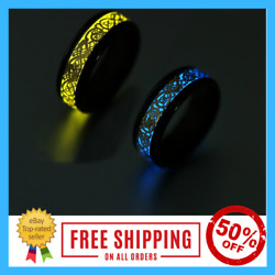 Glo Ring Luminous Dragon Rings Stainless Steel Fashion Jewelry Glow In The Dark $17.36