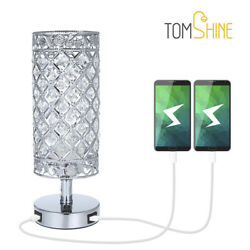 60W Crystal Table Lamp Bedside Nightstand Desk Reading Lamp Bedroom Living Room