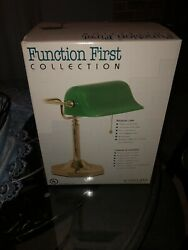 Green Bankers Glass Lamp Shade Antique Desk Design Office Table Bank Light New
