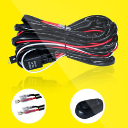 2-Lead Wiring Harness Kit 40A Fuse Relay Switch Power ONOFF for LED Light Pods $13.59