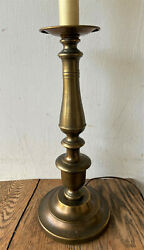 Vintage Antique Brass Candlestick turned into Electric Table Desk Lamp - 31