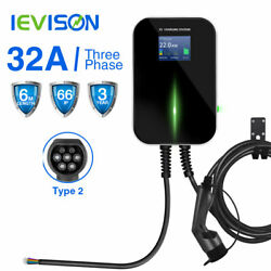 Type2 Charger EV Charging Station 3phase Wall Mounted Electric Car 32A 22KW Audi $475.95
