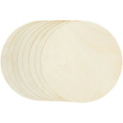 8 Pack Unfinished Wood Circle Round Wooden Cutout for DIY Craft Supplies $13.99