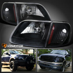 For 1997-2003 Ford F150 Expedition Black Headlights+Corner Turn Signal Lamps $85.38