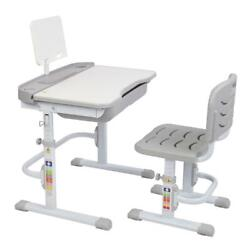 Desk and Chair Set Height Adjustable Kids Children#x27;s Sturdy Table Work Station $79.90