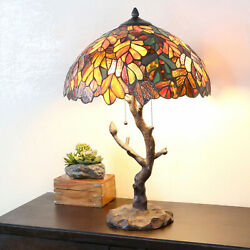 Tiffany Style Table Lamp Tree Table Reading Desk Accent Stained Glass Lamp $229.77