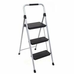 Portable 3 Step Folding Ladder with Non-Slip Work Platform 225Ibs Load Capacity $43.99