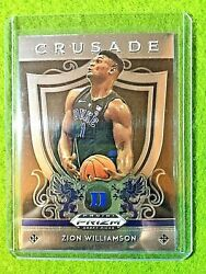 ZION WILLIAMSON ROOKIE CARD PANINI PRIZM RC DUKE JERSEY #1 PELICANS 2019 CRUSADE $29.97