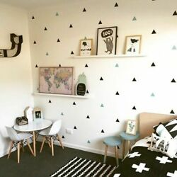 Baby Boy Room Little Triangles Wall Sticker For Kids Room Decorative Stickers $4.49