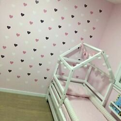 Heart Wall Sticker For Kids Room Baby Girl Room Decorative Stickers Nursery Home $3.90