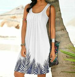 Holiday Summer White Dresses Casual beach dresses Summer Spring Sleeveless $29.99