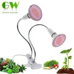 LED Grow Light Full Spectrum E27 Flexible Metal Hose Indoor Plant Lamp Clip-on $14.99