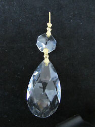 10 AAA 30 % LEAD CRYSTALS PRISM CHANDELIER PARTS 2 quot; TEAR DROP BRASS $13.97