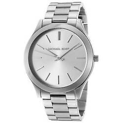 Michael Kors MK3178 Slim Runway Silver Wrist Watch for Women