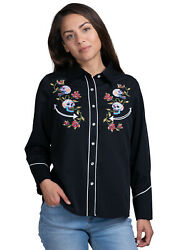 Benny#x27;s Womens Day of the Dead Western Shirt $34.99