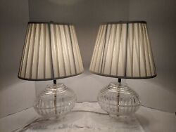 Vintage Bleikristall Lausitzer Glas 24% Lead Crystal Lamps. Made in Germany. $69.99