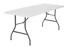 6ft Centerfold Folding Table Portable Outdoor Picnic Indoor Plastic Party White $60.85