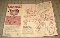 1977 KAUFFMAN#x27;S Country Wares Fold Out Brochure New Holland Pennsylvania $10.00