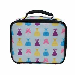 Disney Princess Colorful Dresses Lunch Bag Insulated Lunch Box Girls Lunchbox $15.88