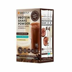 Protein Shake Powder Variety for Women Packets Chocolate Iced Coffee amp; Vanilla $14.46