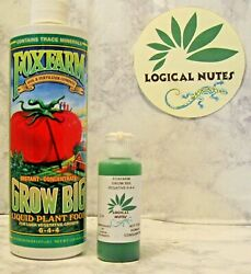 Fox Farm Grow Big plant fertilizer hydroponics soil 2oz bottle nutrients $7.99