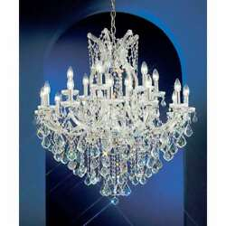 Classic Lighting Maria Theresa Crystal Traditional Chandelier Chrome - 8138CHS
