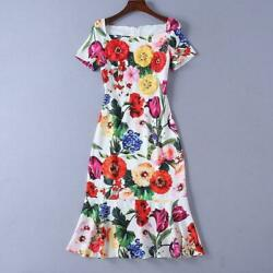 Runway Womens Vestidos Summer Dress Floral Designer Dresses Luxury Occident New