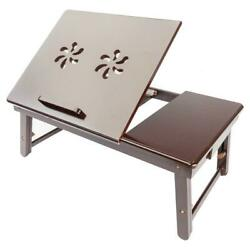 Folding Double Flower Style Laptop Table Lap Desk Bed Portable Tray Stand Holder $27.98