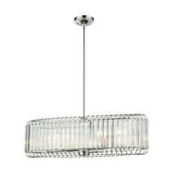 ELK Lighting Beaumont 6-Light Linear Chandelier ChromeClear Crystal - 81326-6