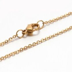 6pcs Golden Vacuum Plating 304 Stainless Steel Cross Cable Chain Necklaces $6.26