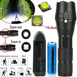 Tactical 900000lm LED Flashlight Super Bright Rechargeable Torch T6Battamp;Charger $7.80