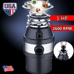 1 HP Continuous Feed Household Plug In Garbage Disposer Kitchen Waste Disposal $81.99
