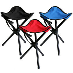 Camping Folding Chair Tripod Portable Compact Hiking Lightweight Outdoor Stool $11.25