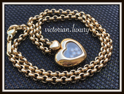 Authentic! 18ct SOLID Gold CHOPARD Happy Diamond Heart Necklace