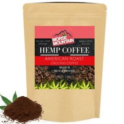 HEMPSEED COFFEE GROUNDS 252 MG 8 OZ. FULL MEDIUM AMERICAN ROAST COFFEE GROUNDS $15.47