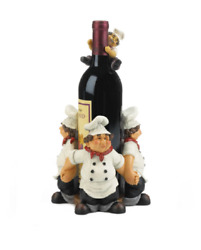Italian Chefs waiter man french kitchen counter Wine rack bottle holder statue $53.90