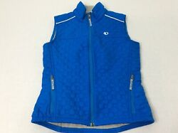 Pearl Izumi Pro Sky Blue Quilted Womens Small Full Zip Fleece Lined Vest EUC $27.98