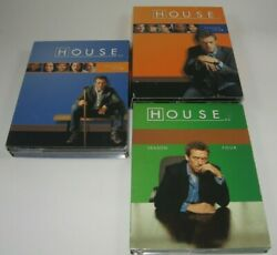 House MD Tv Show DVD Complete Seasons 12 amp; 4 One Two Four Boxed Sets in VG POC $17.99