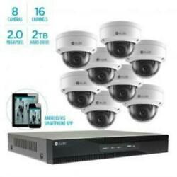 Alibi 2MP Eight Dome Camera IP System with 16 Channel NVR and 2TB Storage $2099.99
