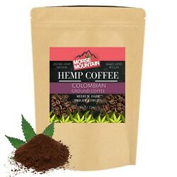 Hempseed Infused Colombian Coffee Grounds 240mg Medium Dark Colombian Roast 8oz $15.47