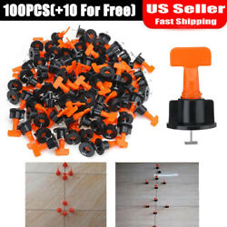 100 Flat Ceramic Floor Wall Construction Tools Reusable Tile Leveling System Kit $34.99