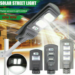 12000LM Solar LED Street Light Commercial Outdoor IP65 Area Security Road Lamp