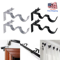 2 Double Hang Curtain Rod Holders Bracket Into Window Frame Curtain Rod Brackets $9.99