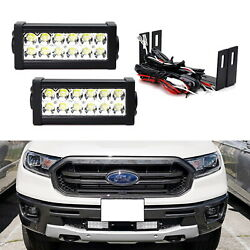 Dual 7.5-Inch LED Light Bars w Lower Bumper Mount Wiring For 19-up Ford Ranger $90.99