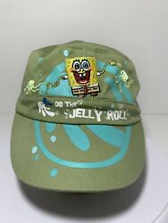 Spongebob Military Style Hat. Green Teal And Blue. Nickelodeon Universe. $14.99