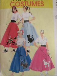 OOP McCALLS 5681 MS Poodle Skirts Petticoat amp; Appliques COSTUMES PATTERN 8 16 UC $5.98
