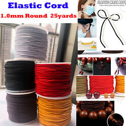 1 Roll Elastic string for BraceletsNecklaceBeading and Sewing 25Yard 1mm Round $6.98